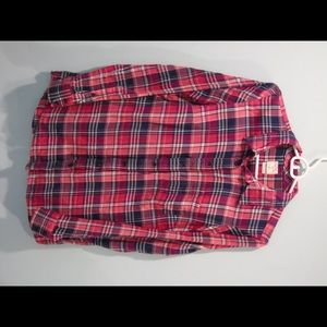 Pink plaid button up